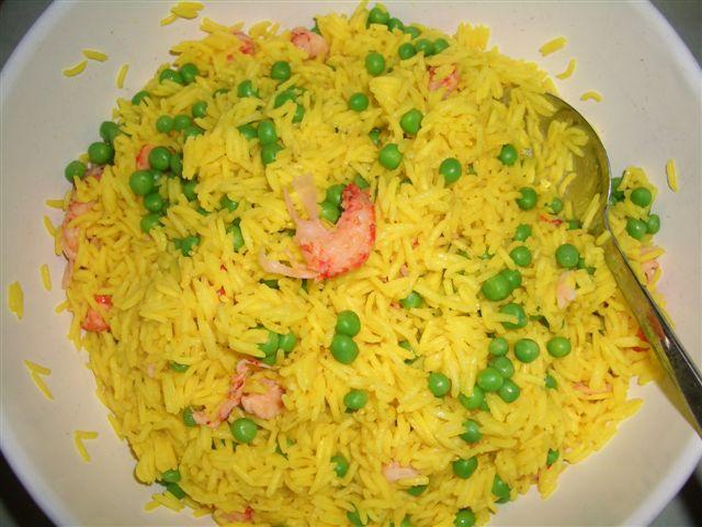 Reissalat, ganz in gelb,